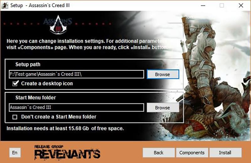 chọn nút Install để tiến hành cài game.