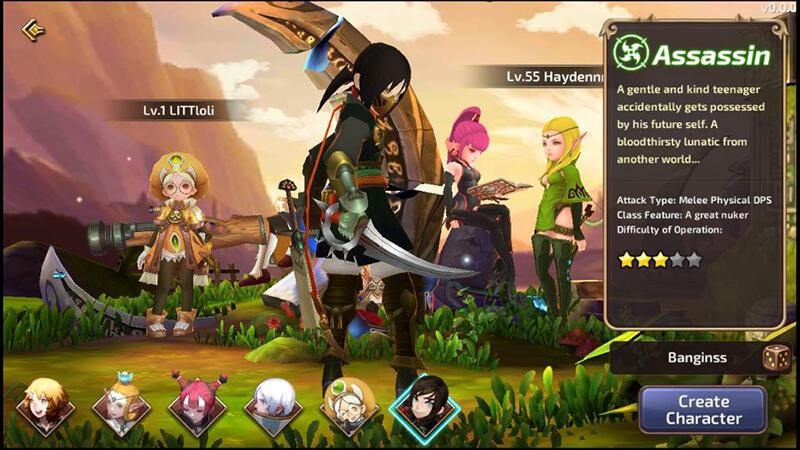người chơi sẽ hóa thân vào 1 trong 6 lớp nhân vật