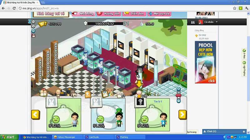 trò chơi vui vẻ giúp người chơi tương tác với bạn bè